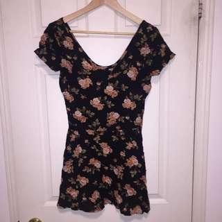 Original Brandy Melville Floral Skater Dress
