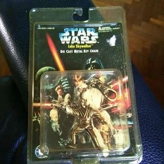 Luke Skywalker Star Wars Die Cast Diecast Metal Key Chain Keychain Rare Limited Edition Toy