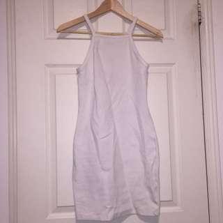 Aritzia Square Neck Bodycon White Dress