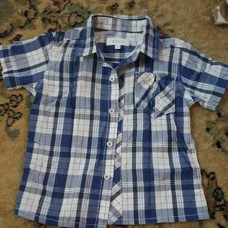 Seed Checked Short Sleeve Shirt