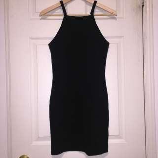Aritzia Square Neck Bodycon Black Dress