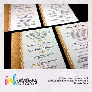 Wedding Anniversary Invitations by Grafico