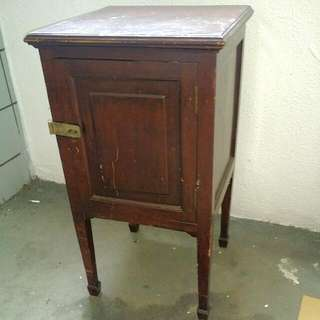 Vintage Table With Cabinet