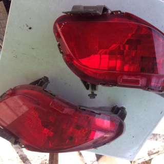 lampu pada bumper belakang toyota vios TRD
