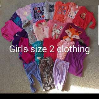 Bulk Girls Clothing Size 2