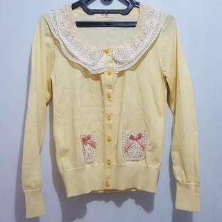 Yellow Korea/Japan Cardigan
