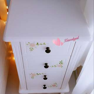 **RESERVE**🔴ONLY FOLLOWERS GET 50% SALES ($499➡ $250)🔴💟HAND PAINTED EUROPE💟◆BRAND NEW◆75CM TALL & 85CM FRENCH ENGLISH COUNTRY SHABBY CHIC COTTAGE STYLE BEDSIDE TABLE! (GOOD WOOD/Useful/Practical/Durable/Housewarming gift) No pet No smoker CLEAN HSE