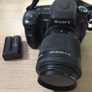 Great Deal! Sony A200 With Battery (Charger Missing) And Lens