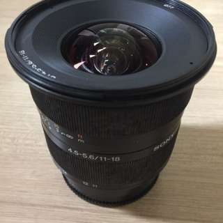 HOT!! Sony SAL-1118 Zoom Super Wide Angle 11-18mm f/4.5-5.6 DT Lens (Excellent Condition!)