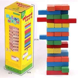 Wood Toys Color Jenga 48pcs