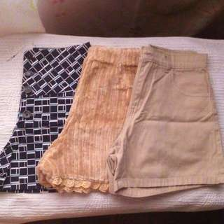 Bundle Of 3 High Waisted Shorts