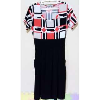 Sylvia Pinero Patterned Black Dress