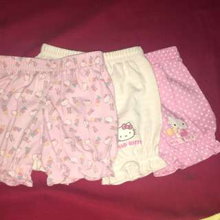 0-3 Months San rio Shorts For Baby Girl