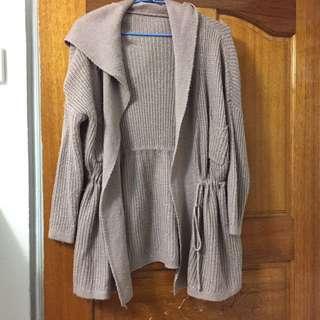 長版米色氣質外套