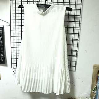 雪紡 白 洋裝