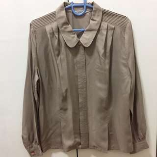 Olive Button Down Long Sleeves