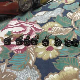 M6, Carbon Look Dome Screw Caps