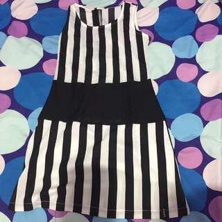 Dress Hitam Putih Very Good Condition
