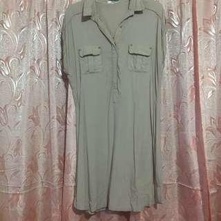 SM Tan Short Sleeves Dress XL
