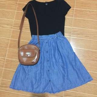 H&M Black Sweetheart Top