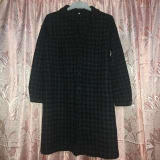 MUJI Checkered Wool Dress