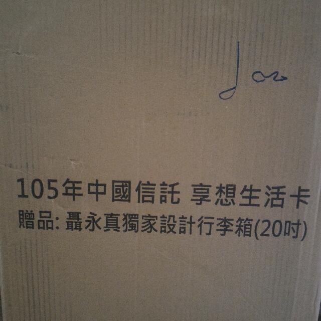 聶永真20吋行李箱