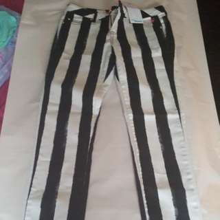 Black And White Striped Size 18 Justice Jeans
