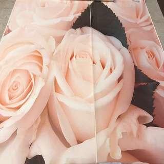 Pink Peach Rose Wallpaper Wall Mural Art Picture Decor