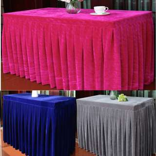 Velvet Reception Table Skirting Cover / Meeting / Convention