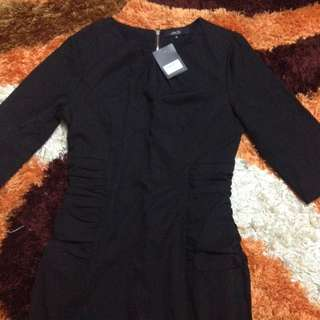 Brand New ZALORA Dress In Black