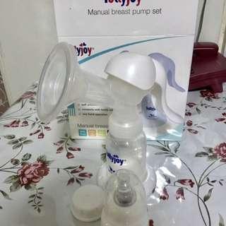 Tollyjoy Manual Breast Pump,  Tommee Tippee Bottle, Breast Milt Storage Bag