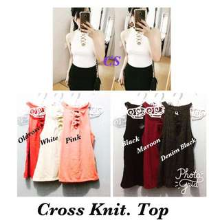 👚Cross Knitted Top👚