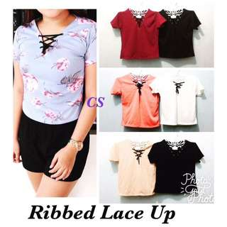 👚Ribbed Lace-Up👚