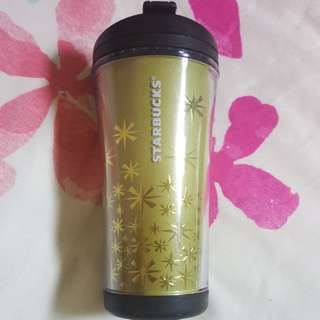 Starbucks LIMITED EDITION Christmas Tumbler (230ml) With Gold Stars Design