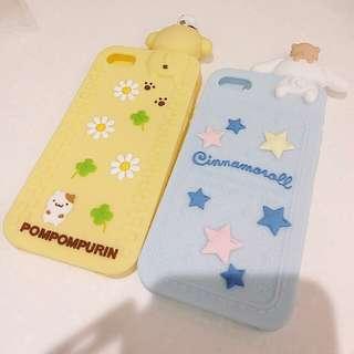 布丁狗 & 玉桂狗 IPhone 7 矽膠手機套