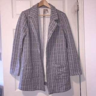 Forever 21 Grid Coat