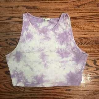 Talula tie dye crop tank top