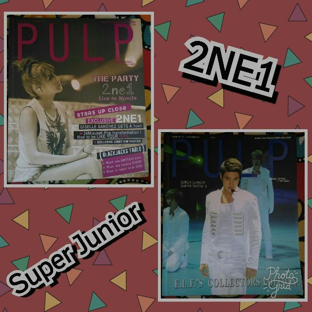 2NE1 & Super Junior (Pulp Magazine)