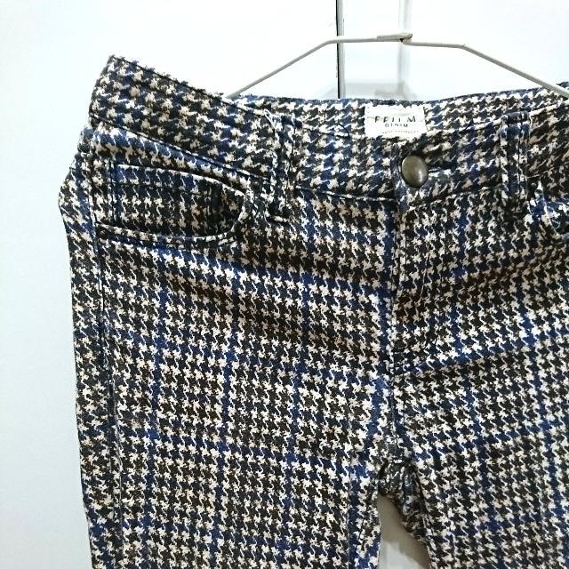 韓版顯瘦 千鳥格  彈性 窄管褲