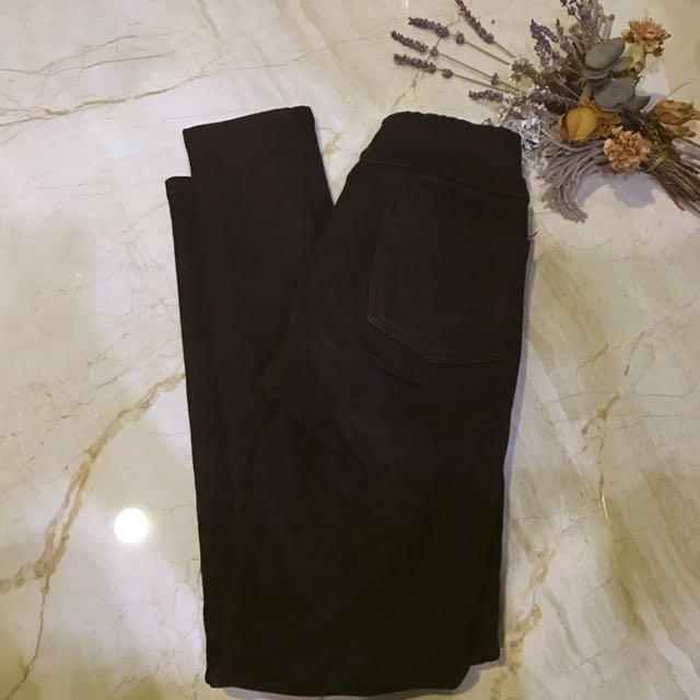 內裡鋪棉黑褲