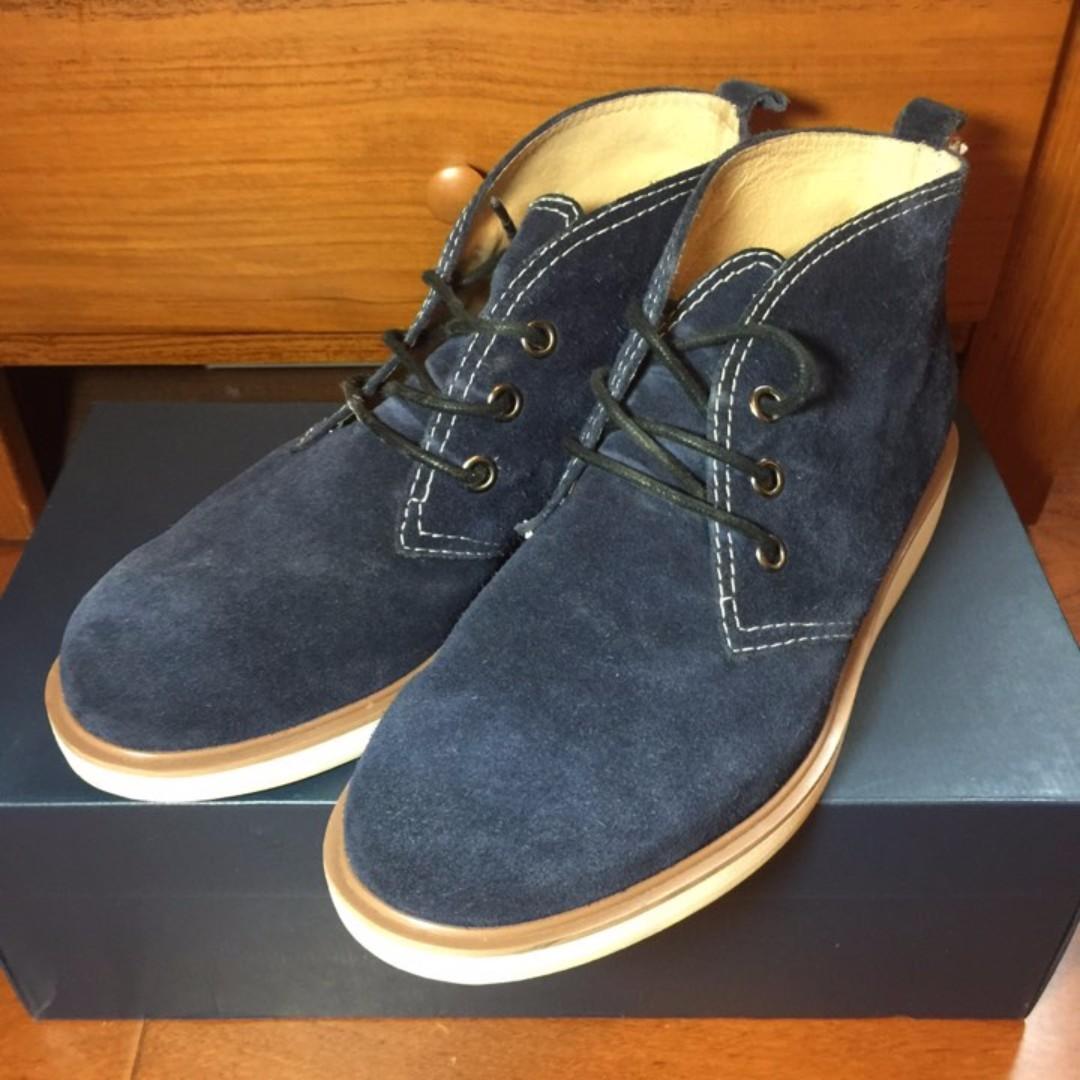手工麂皮鞋 ALL BLACK 皮革內裡 復古風 工裝 工作靴 中筒