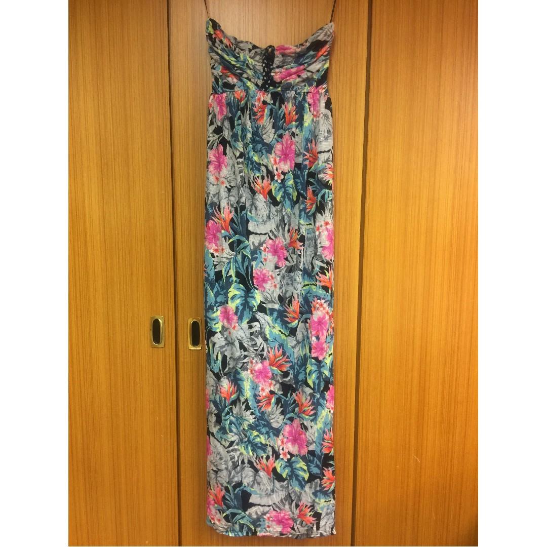 (全新) GUESS 民族風長版洋裝 (有S/M/L 三個尺寸,美國尺寸)