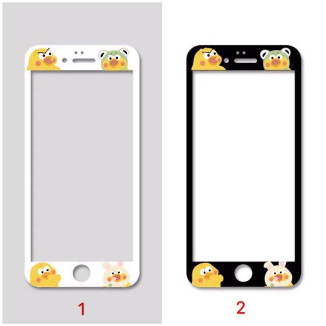 現貨❤️鸚鵡兄弟鋼化膜 iPhone 玻璃膜 螢幕保護貼 iPhone7 6s Plus