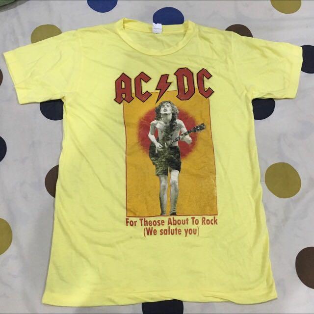 AC/DC 鵝黃 淡黃 樂團t 圖片t 人物t