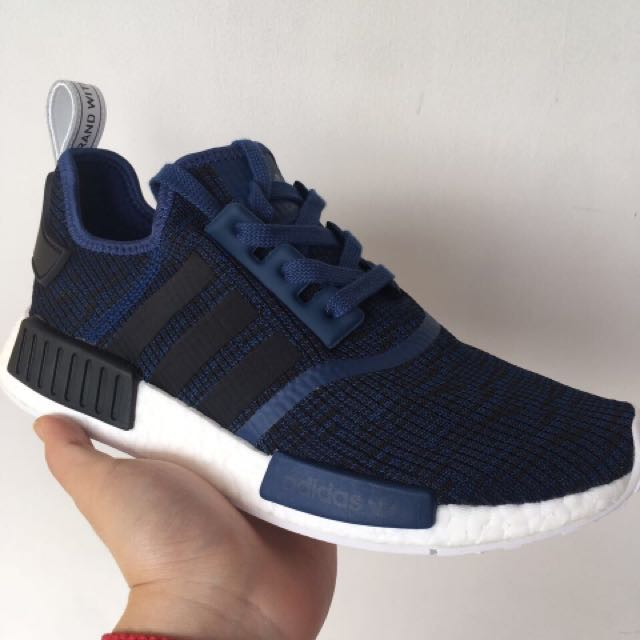 5b140020e5c6c Adidas Originals NMD R1 Mystery Blue Core Black Collegiate Navy ...