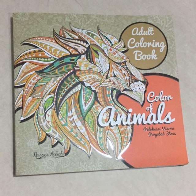 Adult Coloring Book Buku Mewarnai