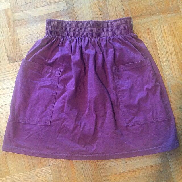 American Apparel (AA) Maroon Jersey Skirt