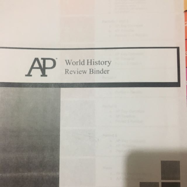 AP World History Review Binder