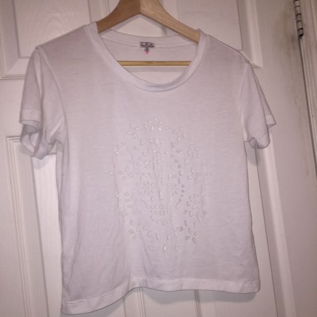 Aritzia Skull Cut Out Tee Shirt