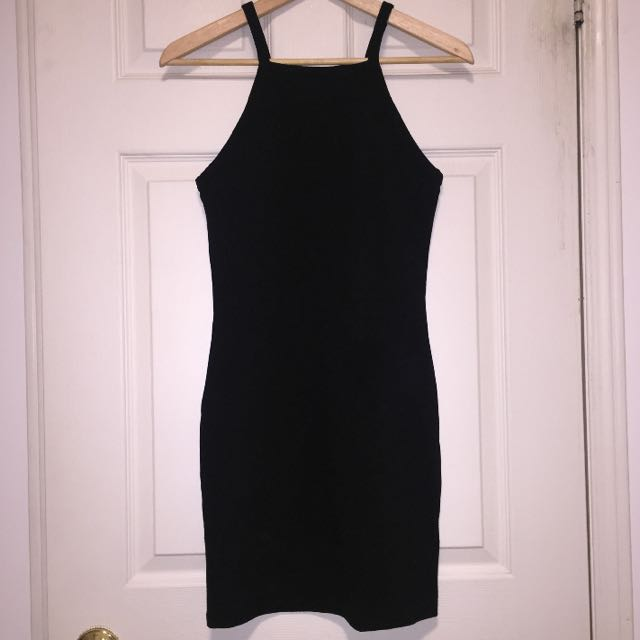 Aritzia Square Neck Bodycon Black Dress